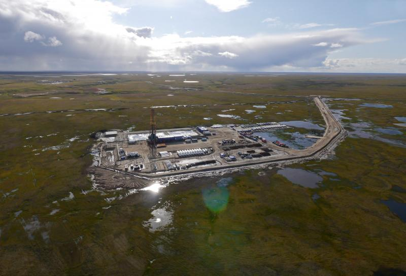Gazprom Neft's Novy Port oil field off the Yamal Penninsula. Photo from Gazprom Neft.