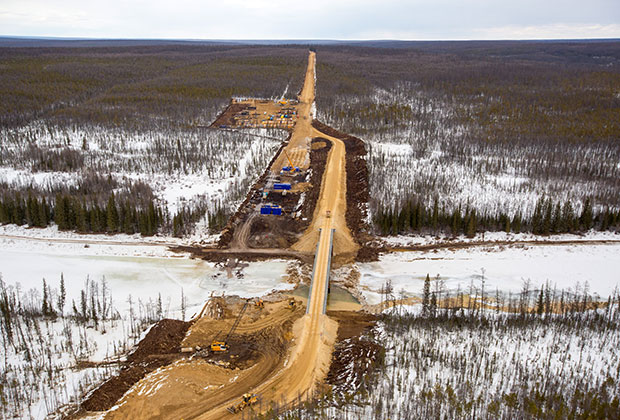 Construction of the Power of Siberia in the Yakutia region