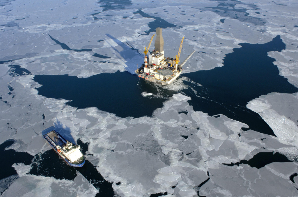 The Sakhalin-1 oil production platform, which Japan's Sakhalin Oil and Gas Development Co (Sodeco) has a stake in