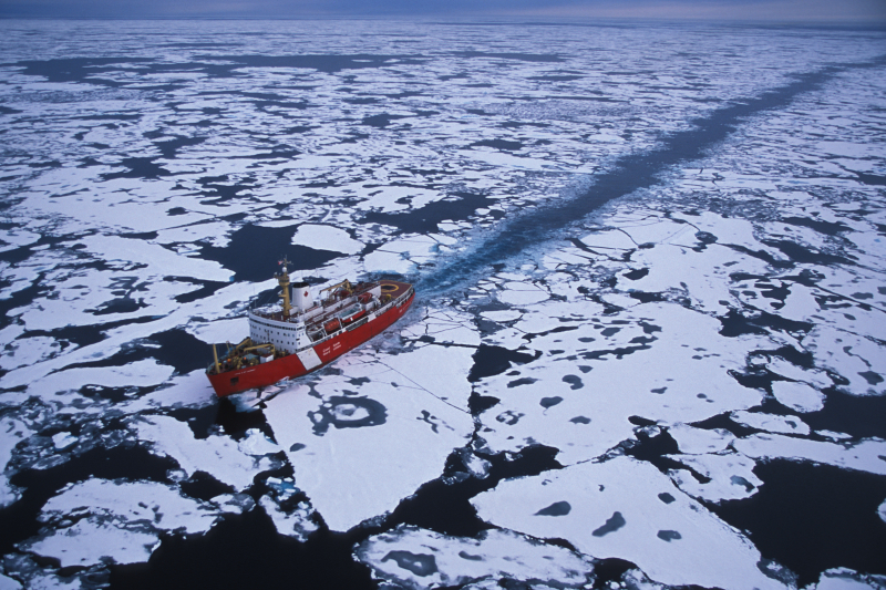 Icebreaker ship, Beaufort Sea, U.S.A.